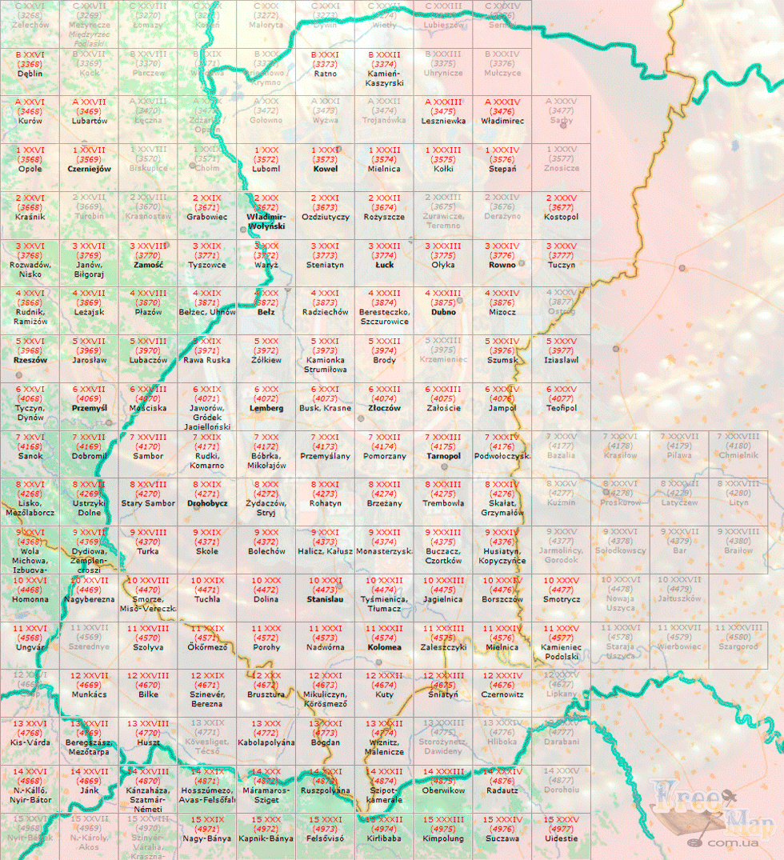 Карты Австрийской монархии 750 метровки