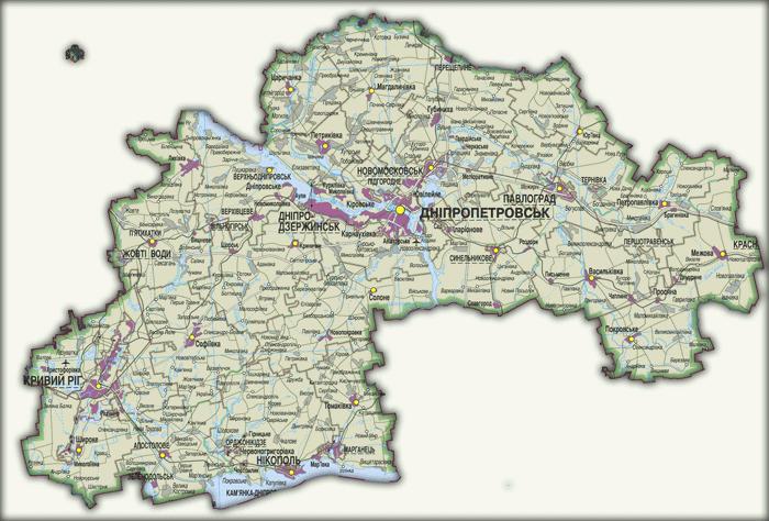 Карты Днепропетровской области