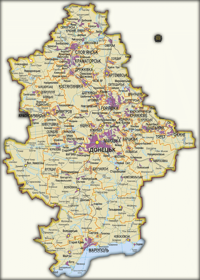 Карты Донецкой области