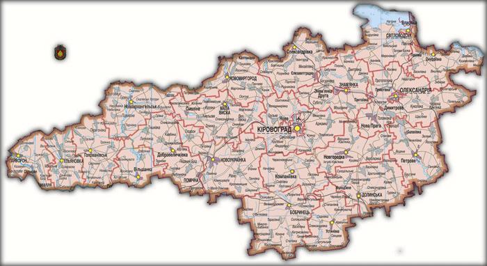 Карта Кировоградской области