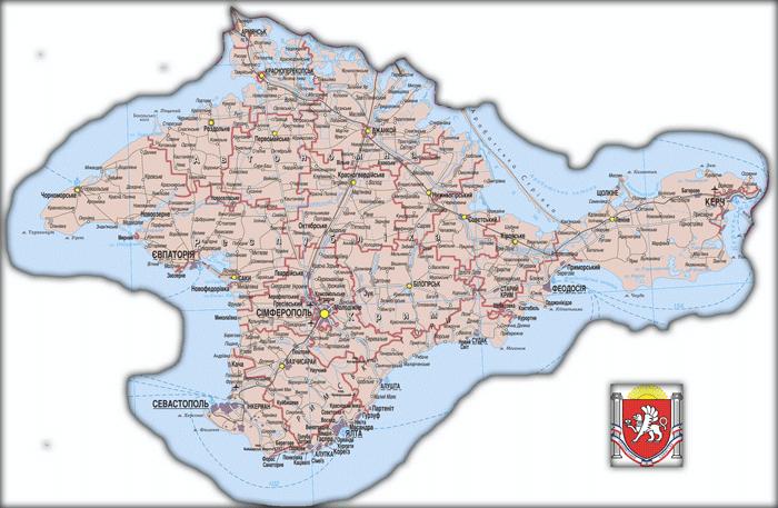 Карта Автономной Республики Крым