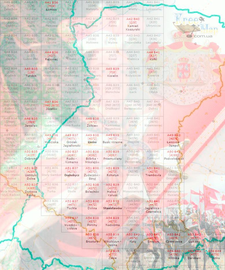 Карты польские тактические