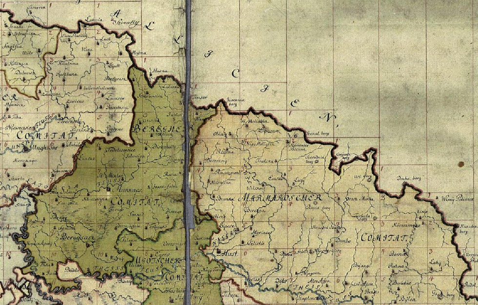 Карты Закарпаття 18 столетия
