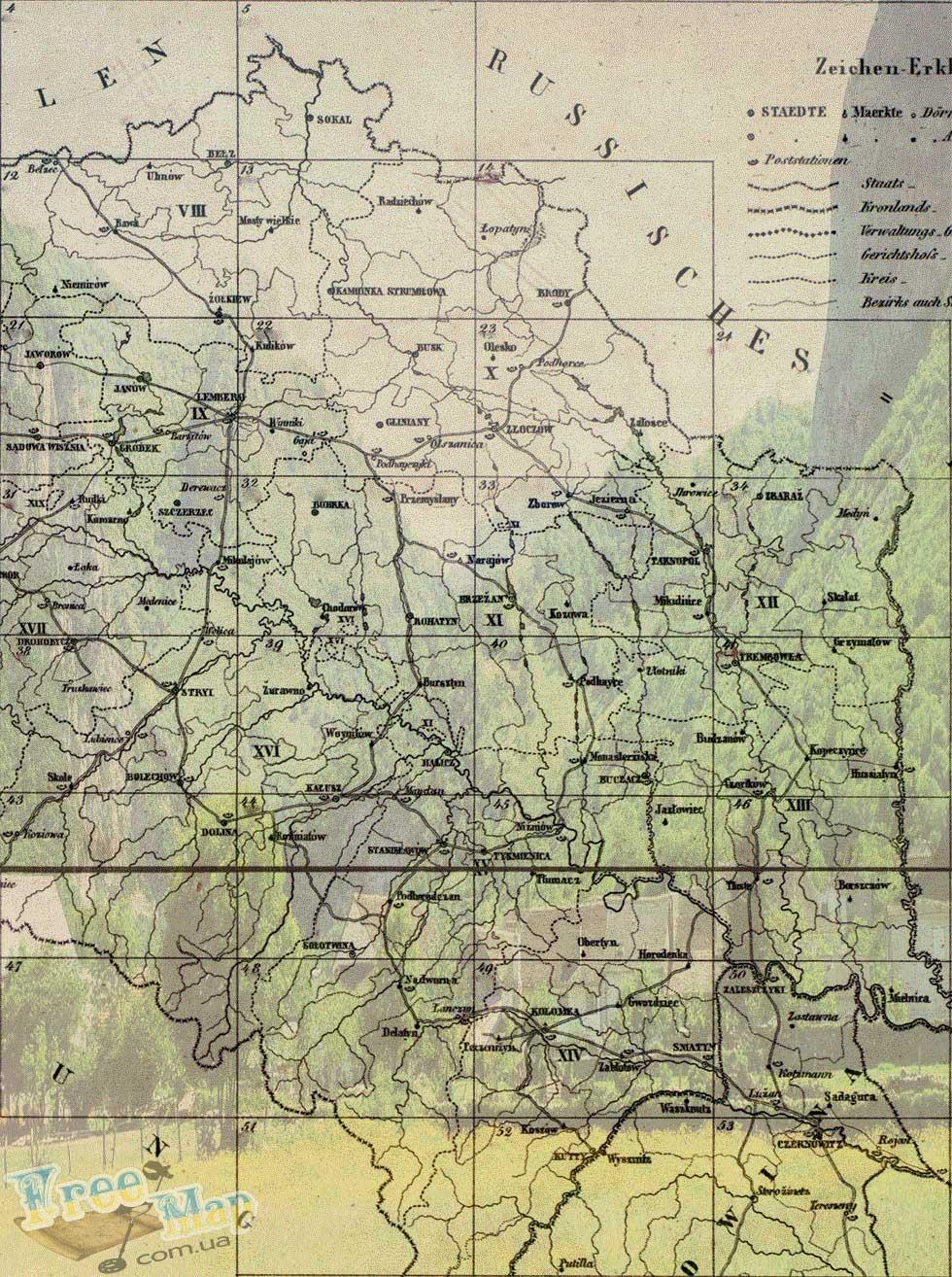 Старые карты Австро-Венгерской империи