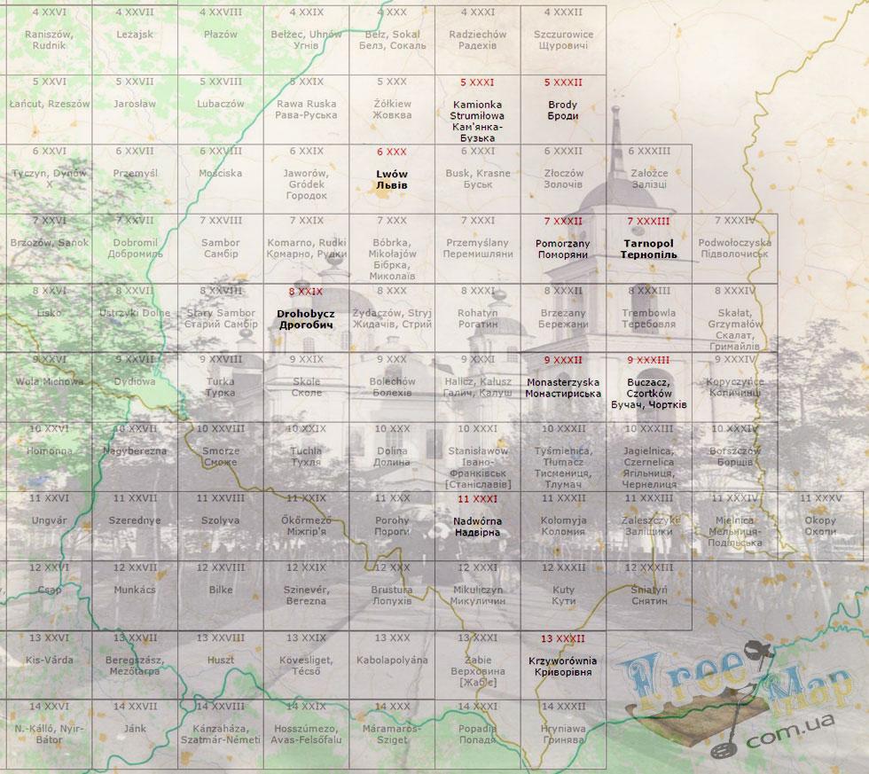 Австро-Венгерские карты (копии Российской Империи)
