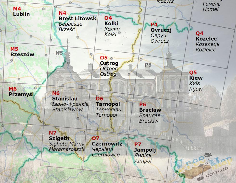 Старые австрийские карты Украины