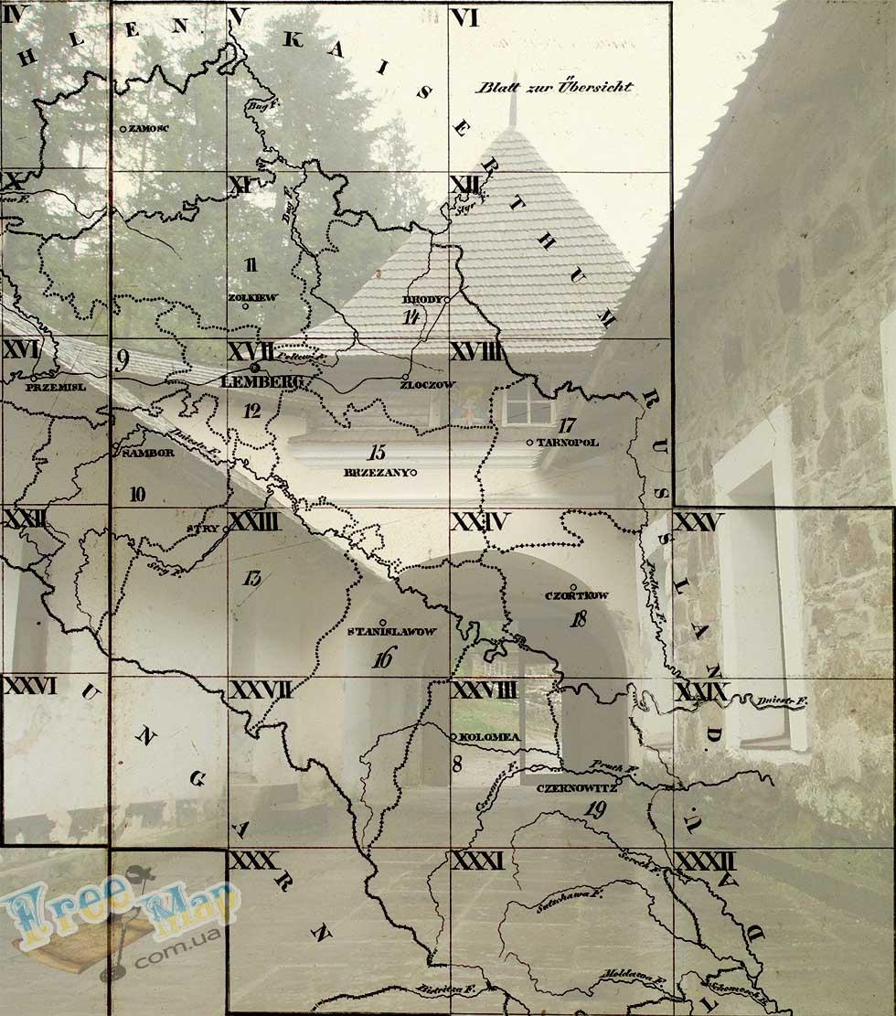 Карты Галиции и Лодомерии