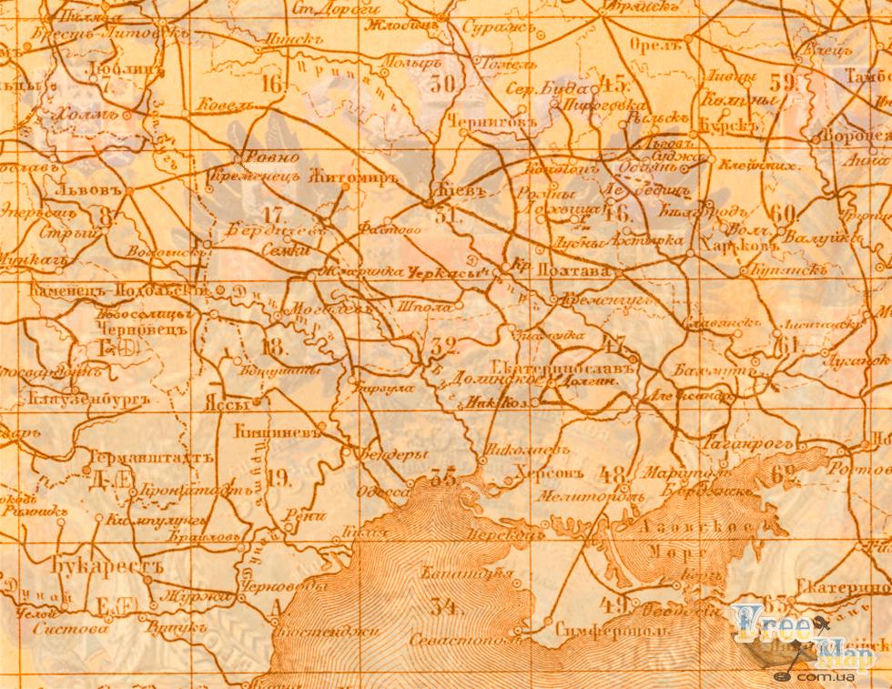 Специальная карта Европейской России (десятиверстовка)
